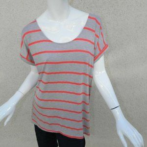Anthropologie Pure + Good Shirt Gray Red Sz Small